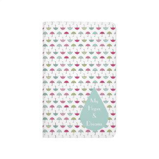 Regenschirm-Muster-Taschen-Zeitschrift Taschennotizbuch