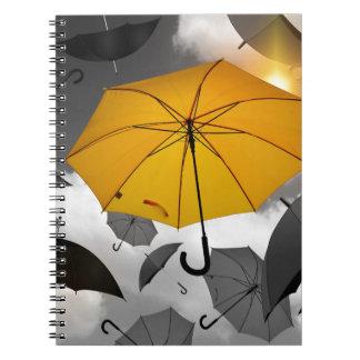 Regenschirm Notizblock