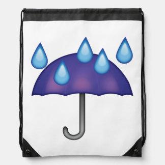 Regenschirm-Regen-Tropfen - Emoji Turnbeutel