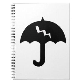 Regenschirm und Beleuchtung Spiral Notizblock