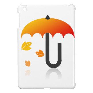 Regenschirm und Blätter iPad Mini Hülle