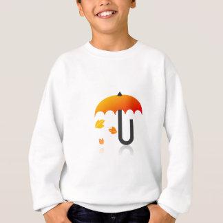 Regenschirm und Blätter Sweatshirt