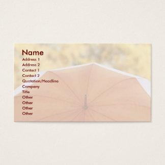 Regenschirm und Herbst-Farben Visitenkarte