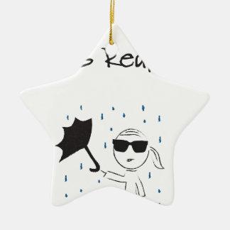 Regenschirm versagen Kampf ist wirklich Keramik Ornament