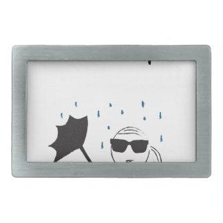 Regenschirm versagen Kampf ist wirklich Rechteckige Gürtelschnalle