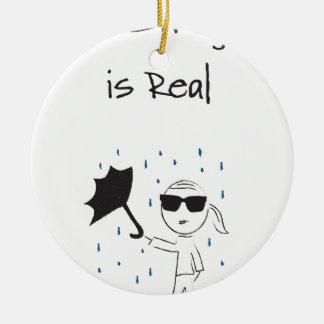Regenschirm versagen Kampf ist wirklich Rundes Keramik Ornament