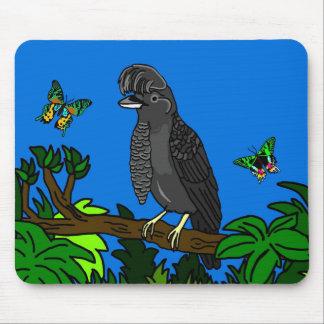 Regenschirm-Vogel und Uranian Motten Mousepad