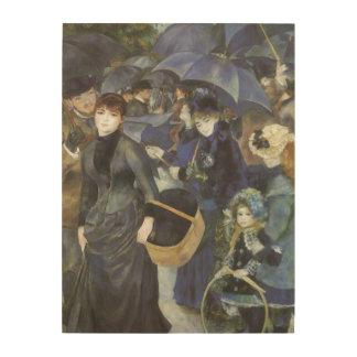 Regenschirme durch Pierre Renoir, Vintager Holzwanddeko