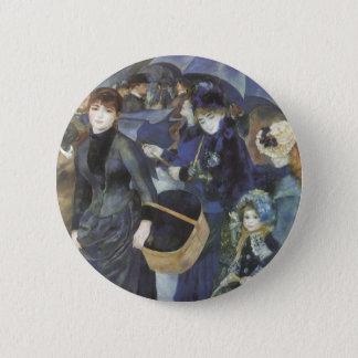 Regenschirme durch Pierre Renoir, Vintager Runder Button 5,7 Cm
