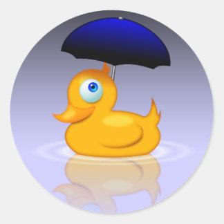 Regenschirmente Runder Sticker
