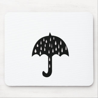 Regenschirmregen Mousepad