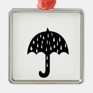 Regenschirmregen Silbernes Ornament