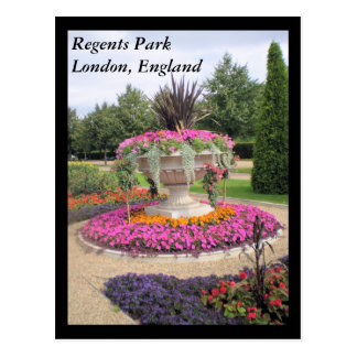 Regenten Park, Postkarte Londons, England