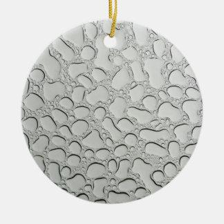 Regentropfen auf Glasdach Keramik Ornament