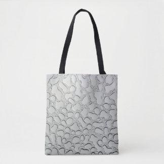Regentropfen auf Glasdach Tasche