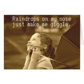 Regentropfen auf meiner Nase Karte