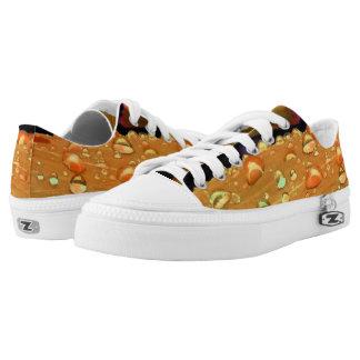 Regentropfen-Nahaufnahme, Spacey Rost-Orange Niedrig-geschnittene Sneaker
