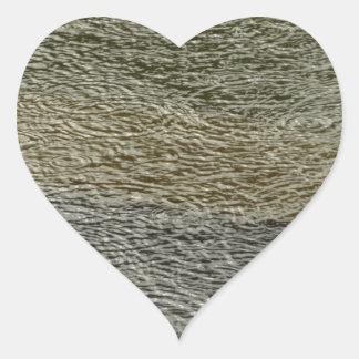 Regentropfen plätschert abstrakte Herz-Aufkleber