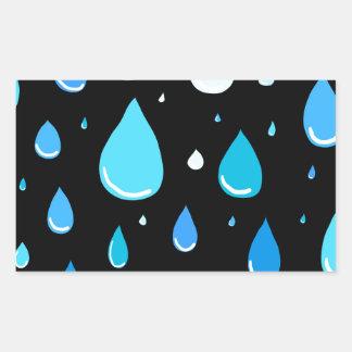 Regentropfen Rechteckiger Aufkleber