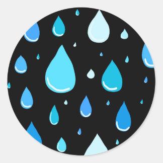 Regentropfen Runder Aufkleber