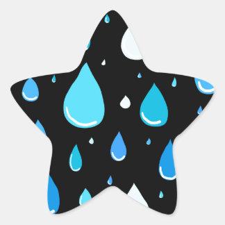 Regentropfen Stern-Aufkleber