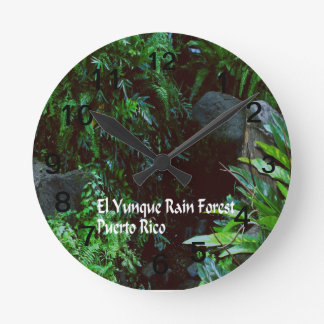 Regenwald EL Yunique Runde Wanduhr