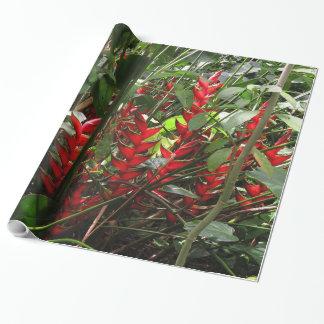 Regenwald Heliconia Geschenkpapier
