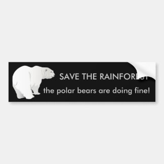 Regenwald oder Eisbären? Autoaufkleber