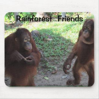 Regenwald-Orang-Utan Freunde Mousepad