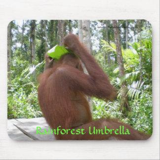 Regenwald-Regenschirm-Dschungel-Tiere Mousepad