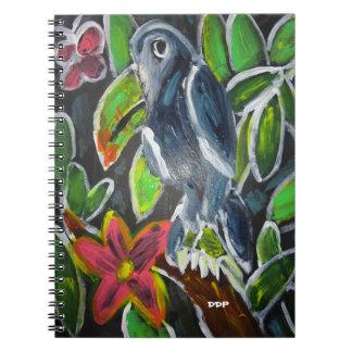 Regenwaldtoucan Kunst Notizblock