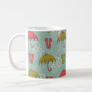 Regenzeit-Regenschirm-Entwurf Kaffeetasse