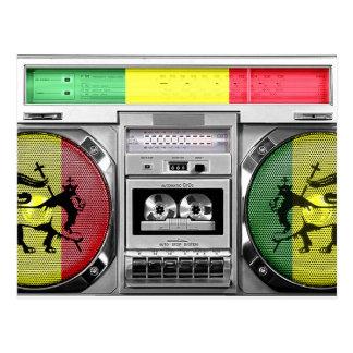 Reggae boombox postkarte
