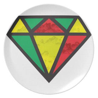 Reggae-Diamant Melaminteller