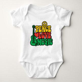 Reggae-FriedensLiebe-Musik Baby Strampler
