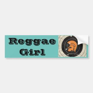 Reggae-Mädchen Autoaufkleber