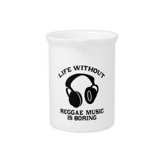 Reggae-Musikentwürfe Getränke Pitcher