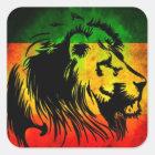 Reggae Rasta Löwe Quadratischer Aufkleber