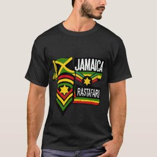 Reggae Rasta schwarze T - Shirt Rastafarian Farben