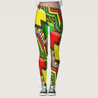 Reggae Rastafara Jah - Power Yoga Leggings