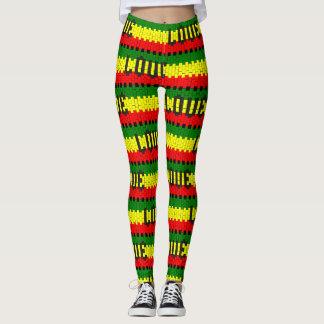 Reggae Rastafara Love - Power Yoga Leggings