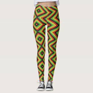 Reggae Roots Rasta Hippie - Power Yoga Leggings