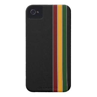 Reggae-Streifen u. schwarzer iPhone 4 Kasten iPhone 4 Cover