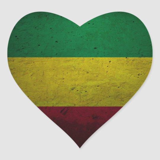 Reggae Vibrations - One love - jah Rasta Sticker