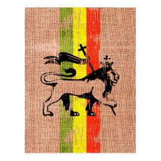 Reggaeköniglöwe Postkarte