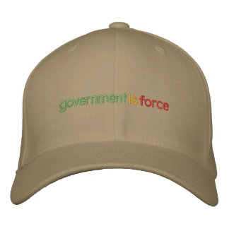 Regierung ist Kraft gestickter Hut