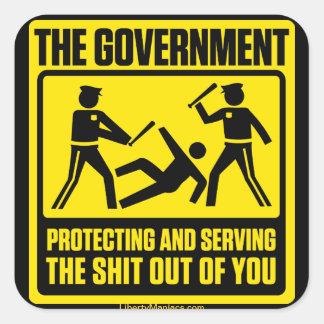 Regierungs-warnender Aufkleber