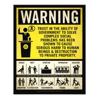 Regierungs-warnender Flyer