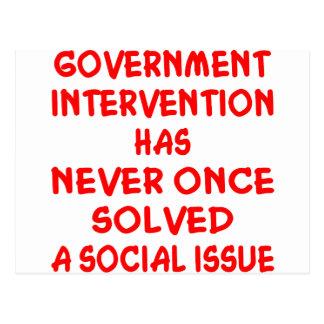 Regierungsinterventions-nie gelöste Sozialfrage Postkarte