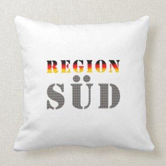 Region Süd - Süddeutschland | Dekokissen (weiß)